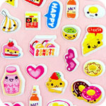 Kawaii Happy Food Shimmer Stickers