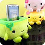 Kawaii Tofu Plush Phone Holder