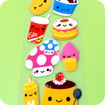 Super Long Kawaii Food Sticker Sheet