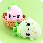 Kawaii Wasabi Plush Phone Charm