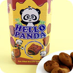 Meiji Hello Panda Biscuits - Double Choc