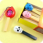 Kawaii Matchstick and Flame Phone Charm