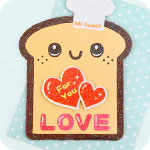 Kawaii Mr Toast Shaped Mini Card