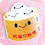 Dim Sum Kawaii Buns Mini Card / Gift Tag