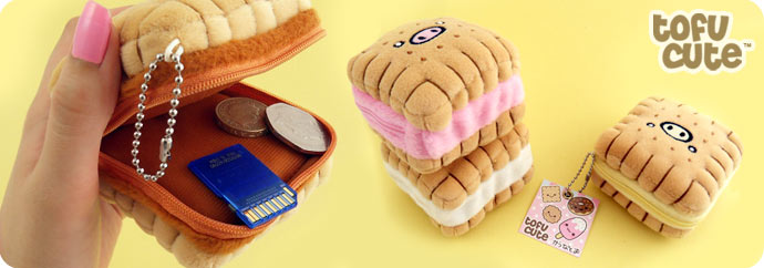 Piggy Biscuit Kawaii Plush Coin Purse