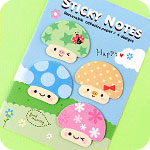 Kawaii Mushroom Mini Memo Sticky Notes