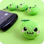 Kawaii Linking Apple Plush Phone Charm
