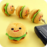 Kawaii Linking Burger Plush Phone Charm