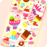 Kawaii Large Sponge Stickers - Dessert Bar