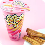 Meiji Yan Yan Fortune Stick - Strawberry Dip
