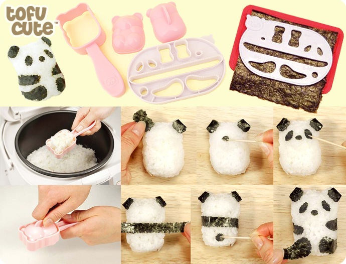 Buy Kawaii Panda Baby Rice Ball Onigiri Mould Kit At Tofu Cute