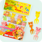 Kawaii Animal Bento Food Forks