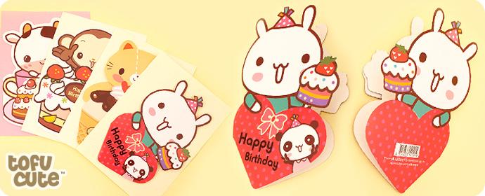 Buy kawaii die cut 3d greetings card love heart bunny at tofu cute tags kawaii greetings birthday card 3d die cut rabbit bunny cake panda party cute m4hsunfo