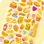 Kawaii Jewelled Food Stickers - Takeaway