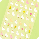 Kawaii Mini Alpaca Seal Stickers
