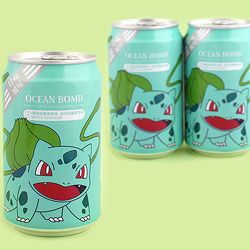 Pokemon Soda Can - Bulbasaur Apple