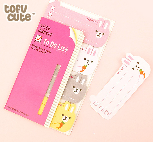 Cute Rabbit Page Markers Kawaii Sticky Notes