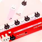 Sticky Note Marker - Monochrome Bunnies