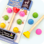 Kawaii Poop & Plunger Stationery Set