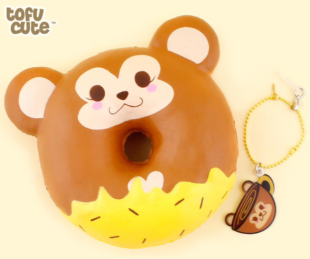 buy puni maru creamii candy scented squishy jumbo cheeki  u0026 cheeka monkey doughnut at tofu cute