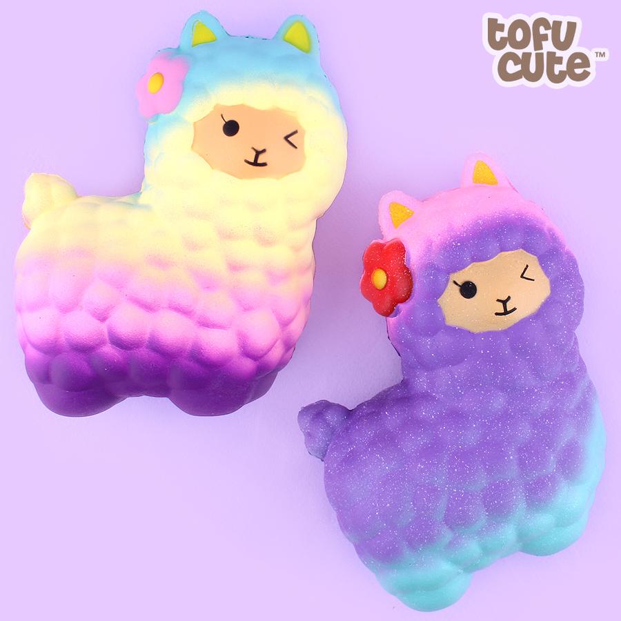 Buy Kawaii Squishy Jumbo Colourful Gradient Alpaca At Tofu Cute