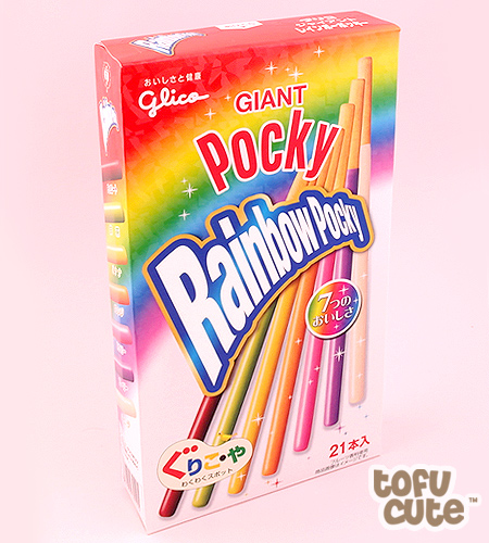 Buy Glico Giant Rainbow Pocky Biscuit Sticks at Tofu Cute