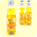 Ramune Japanese Soda Drink - Orange