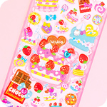 Jewel & Glitter Stickers - Sweetie Ribbon