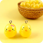 Kawaii Mini Yellow Chick Charms Set of 6
