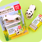 Kawaii Panda Town Mini Stapler Set