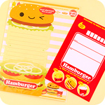 Kawaii Die-Cut Letter Set - Hamburger