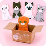 Kawaii Kitty Box House Sticky Memo Notes