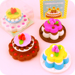 Kawaii Celebration Cake Eraser in Gift Box