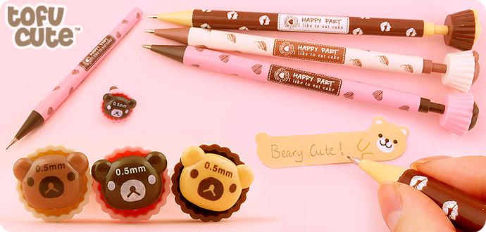 Kawaii Bear Cupcake Mechanical Pencil