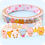 Kawaii Deco Tape - Fluffy Fuwa Friends