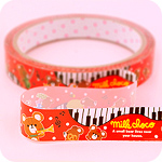 Kawaii Deco Tape - Milk Choco Piano Bear