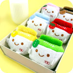 Kawaii Milk Carton Plush Phone Charm