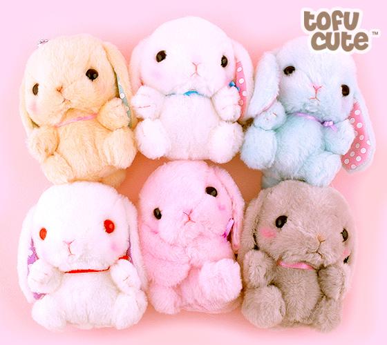 "Amuse Kawaii Mini 4"" Plush Keychains Dog And Rabbit"