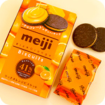 Meiji Rich Orange Cream 41% Biscuits