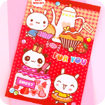 Panda & Bunny Tea Party 3D Greeting Card
