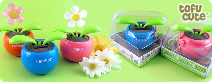 Flip Flap Solar Power Plant with Flower