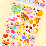 Kawaii Sponge Stickers - Music Animal Dessert