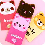 Kawaii Animal Coloured Paper Notepad