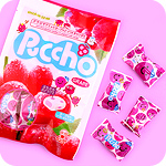 Puccho Grape Bagged Chewy Candy Pack