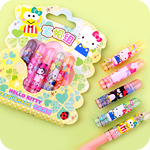Hello Kitty Masquerade Set of 5 Pencil Caps