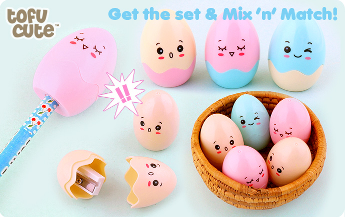 Kawaii Cracked Egg Pencil Sharpener