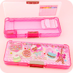 Multi-Section Pencil Box - Paris Sweets