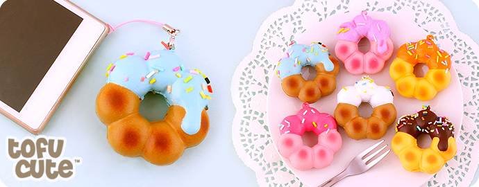 buy squishy cruller icing doughnut phone charm at tofu cute