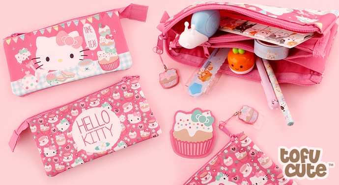 ba04ce898 Tags: sanrio | hello kitty | purse | pencil | case | cosmetic | bag |  cupcake | tea party | kawaii | cute | japanese | glitter | three | pocket