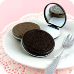 Kawaii Chocolate Cookie Pocket Mirror